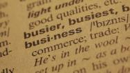 Stock Video Footage of Word Business in a dictionary