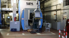 Transportation machine in shop of brewery Ochakovo Stock Footage