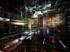 Advance of Fractal Metropolis - stock illustration