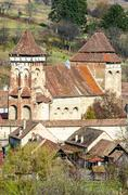 alma vii, evangelical fortified church - stock photo