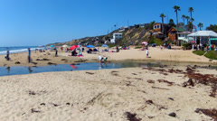 Crystal Cove State Park Beach Time Lapse Pan 10sec Stock Footage