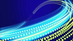 Animated blue abstract background with blurred magic neon light curved lines. Stock Footage