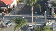 Stock Video Footage of Busy Downtown Intersection Time Lapse