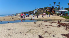 Crystal Cove State Park Beach Time Lapse Pan 20sec Stock Footage