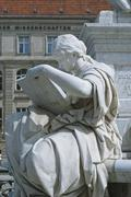 Allegory of History of Schiller Monument in Berlin - stock photo