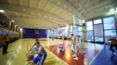 Trauma during basketball game NGAVT team against an opponent Stock Footage
