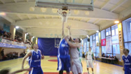 Stock Video Footage of Infringement of rules during basketball game NGAVT team