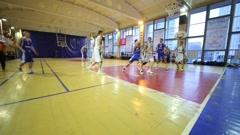 Good shot in basket during basketball game NGAVT team - stock footage