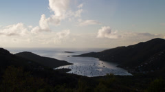 4K Coral Bay, St. John, USVI - Caribbean sunset Timelapse Stock Footage