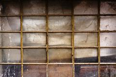 Old shed window - stock photo