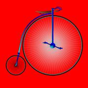 Penny farthing bicycle Stock Illustration