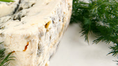 roquefort cheese - stock footage