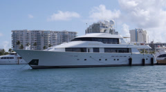 Yacht REDEMPTION in marina luxury boat-shipsl Stock Footage