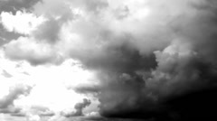 Stormy art Bad Weather. Dark Storm Clouds Gathering Stock Footage