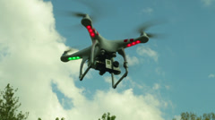 Aerial drone fly flying in air DJI Stock Footage