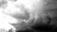 Bad Weather. Dark Storm Clouds Gathering art dark clouds abstract background Stock Footage