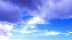 Lovely Weather  cloudscape ,lovely  clouds abstract background Stock Footage