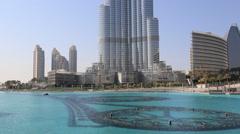 Burj Khalifa  in Dubai, UAE. - stock footage