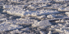 Arctic Sea Ice mouvement in Nunavut Stock Footage