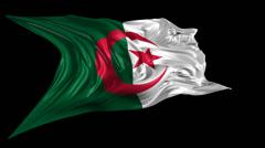 Flag of Algeria - stock footage
