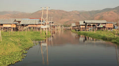 Floating Gardens Inle Lake Stock Footage
