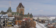 Stock Video Footage of Quebec city parlement during winter