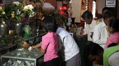 Monywa Temple People Money Stock Footage