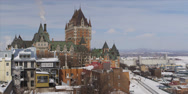 Stock Video Footage of Quebec city parlement during winter 2