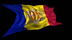Flag of Andorra Stock Footage