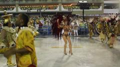 Samba woman carnaval Stock Footage