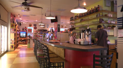 Bar and coffee house WS Stock Footage