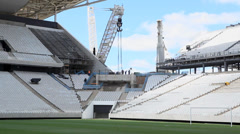 Building the Corinthians stadium Stock Footage