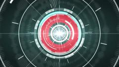 Abstract hi-tech circle element background. Loop. Matte channel included. Stock Footage