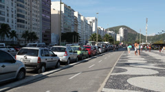 Boulevard Copacabana Rio de Janeiro - stock footage