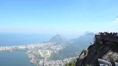 View Rio from Cristo, lagoa Stock Footage