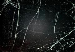 Glass with cracks Stock Photos