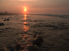 Slow Motion Waves Sunrise Stock Footage