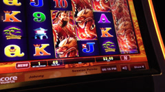 Macro slot machine - stock footage
