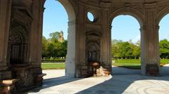 Pan shot Diana Temple Hofgarten Palace Garden Munich Germany Europe Stock Footage