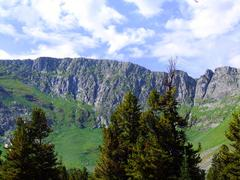 Beautiful landscape in the mountains. Siberia. Sayan Mountains. - stock photo