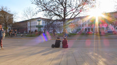Time Lapse Students Academic Intellectual at University Campus Munich Germany - stock footage