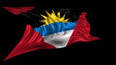 Flag of Antigua and Barbuda Stock Footage