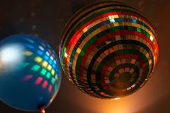 mirror colour sphere - stock photo