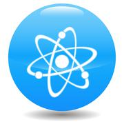 Atom icon Stock Illustration