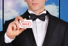 Stock Illustration of visiting card with sale