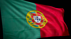 Flag Portugal Stock Footage
