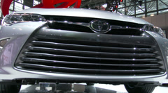 Detail of new Toyota Camry at the New York International Auto Show Stock Footage