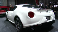 Alfa Romeo 4C at the New York International Auto Show Stock Footage
