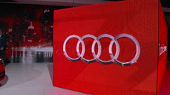 Audi A3 e-tron at the New York International Auto Show Stock Footage