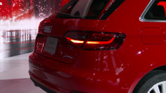 Stock Video Footage of Audi A3 e-tron at the New York International Auto Show